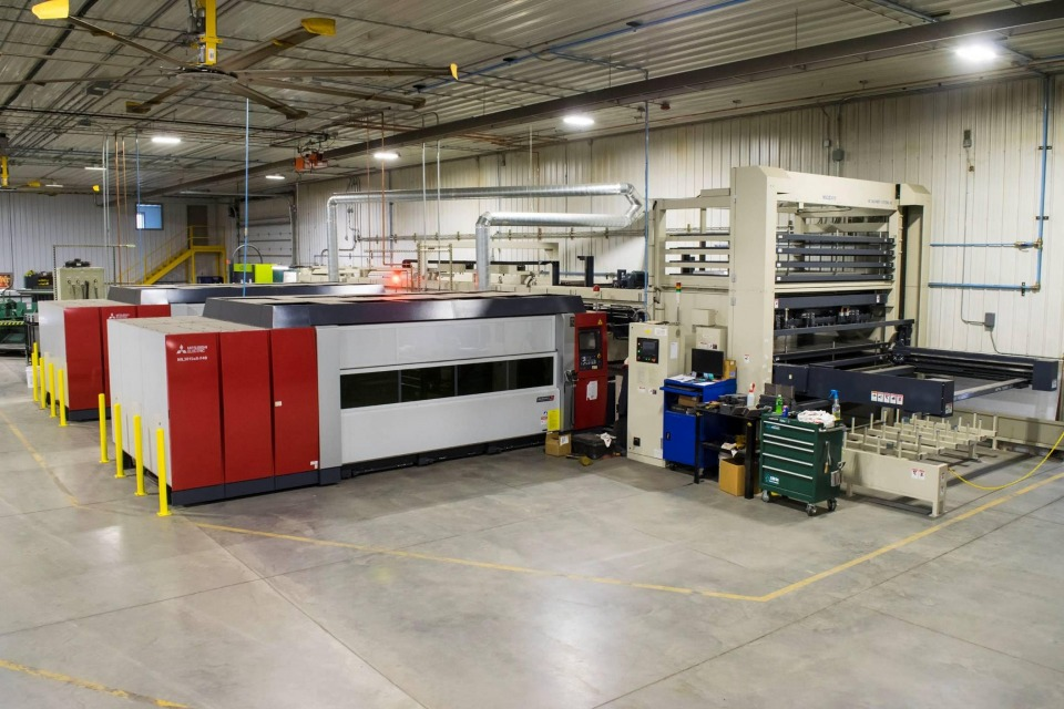 Inside the M3 Fab and Powder Coating facility